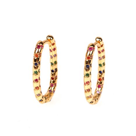 new colorful earrings zircon fashion exaggerated earrings wholesale nihaojewelry NHPY235077's discount tags