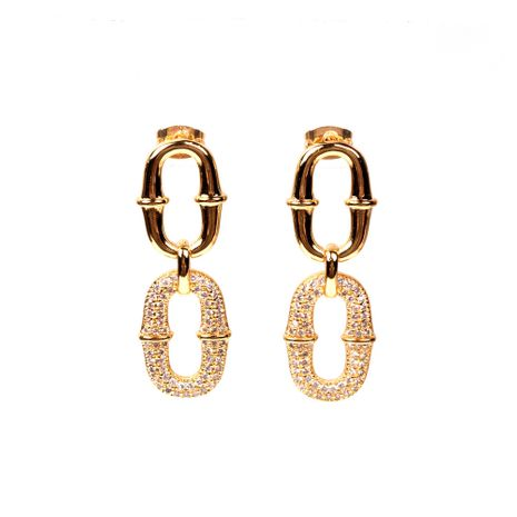 new accessories geometric lock oval earrings elegant daily earrings wholesale nihaojewelry NHPY235078's discount tags