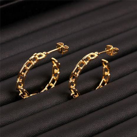 nouvelles boucles d'oreilles mode exagérées grandes boucles d'oreilles chaîne géométrique boucle d'oreille boucles d'oreilles en gros nihaojewelry NHPY235084's discount tags