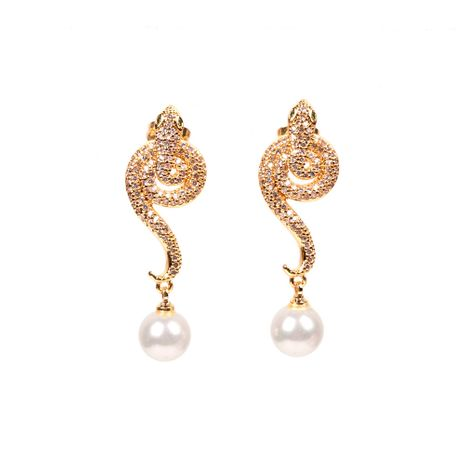 New fashion creative exotic spirit snake earrings wholesale nihaojewelry NHPY235086's discount tags