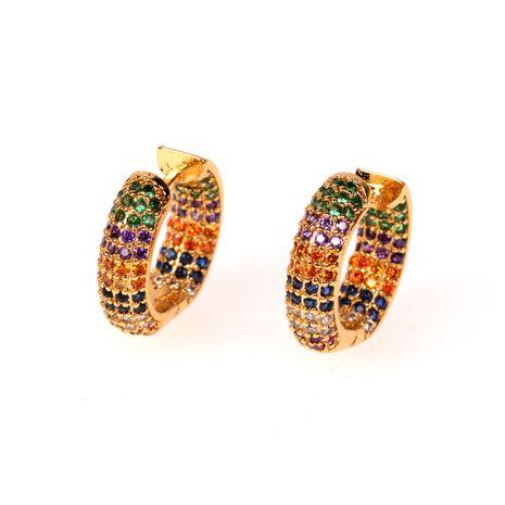 new fashion hot selling  zircon earrings ear buckle wholesale nihaojewelry NHPY235092's discount tags
