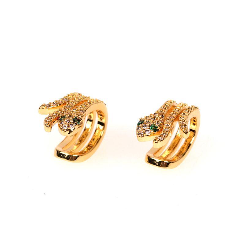 hot sale new diamond U-shaped ear bone clip snake earring fashion ear jewelry wholesale nihaojewelry NHPY235093