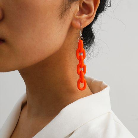 creative jewelry fashion simple acrylic buckle earrings wholesale nihaojewelry NHXR235097's discount tags