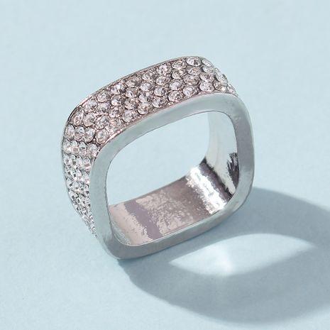 vente chaude hommes et femmes pleine bague en diamant simple quatre rangées bijoux en diamant en gros nihaojewelry NHMD235108's discount tags