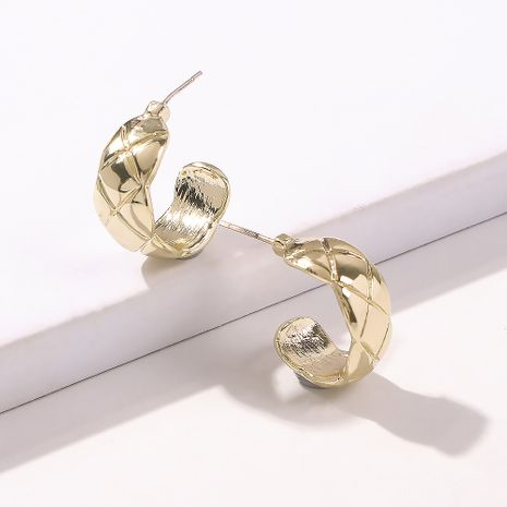 fashion curved simple  exaggerated retro cold wind earrings old metal texture semicircular earrings nihaojewelry wholesale  NHMD235112's discount tags