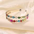 fashion doublelayer alloy color diamond headband trend hair accessories headband wholesale nihaojewelry NHMD235117