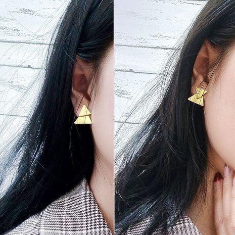 triangle double-layer earrings dual-use earrings jewelry wholesale nihaojewelry NHOK235160's discount tags