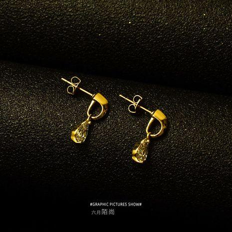 super flash 3A diamond drop earrings dress earrings jewelry earrings wholesale nihaojewelry NHOK235218's discount tags