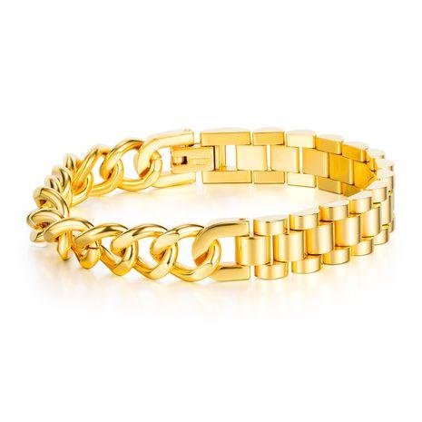 Nouveaux hommes dominateur titane acier bracelet populaire moto chaîne bijoux en gros nihaojewelry NHOP235228's discount tags