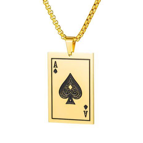 nouveaux produits mode sauvage titane acier pique Une carte à jouer pendentif tendance collier en gros nihaojewelry NHOP235230's discount tags