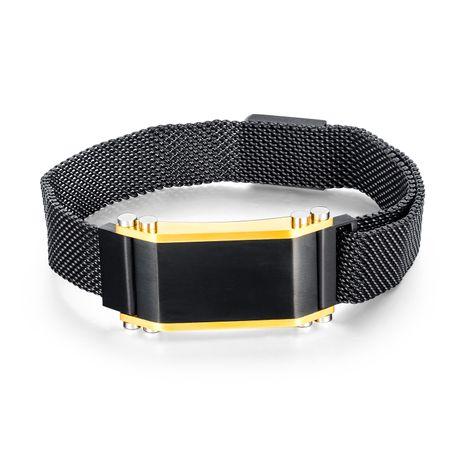 bracelet en acier au titane réglable pour hommes populaires populaires en gros nihaojewelry NHOP235239's discount tags