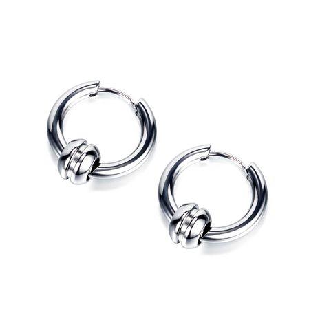 Korean classic men's titanium steel circle earrings hot sale earrings wholesale nihaojewelry NHOP235242's discount tags