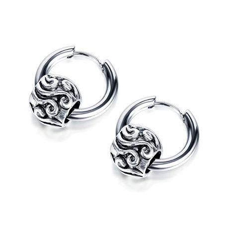 new street hip-hop titanium steel earrings simple circle geometric retro diverse earrings jewelry wholesale nihaojewelry NHOP235244's discount tags