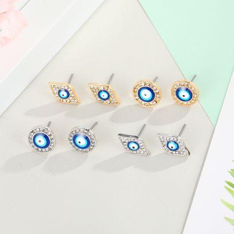 Devil's Eye Small Earrings Simple Small Earrings Dripping Eyes Round Earrings wholesale nihaojewelry NHGO235270's discount tags