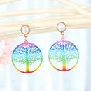 Korean color life tree iron piece ear hook piece pearl earrings wholesale nihaojewelry NHGO235276