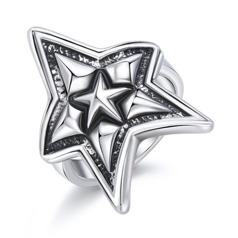 hot sale men's ring domineering ancient silver starfish ring wholesale nihaojewelry NHGO235287's discount tags