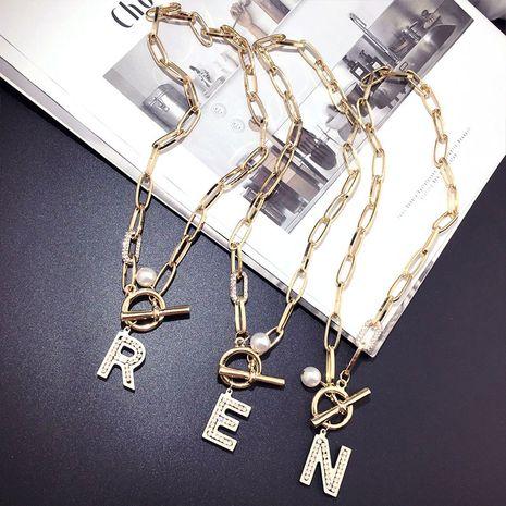 Corea moda bungee letras media y larga cadena suéter al por mayor nihaojewelry NHFT235322's discount tags