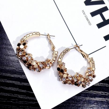 sequins circle earrings retro earrings Korean street beat earrings wholesale nihaojewelry NHFT235366's discount tags