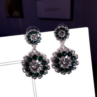 Korean new retro silver needle fashion elegant earrings wholesale nihaojewelry NHFT235367's discount tags