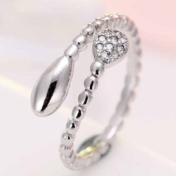 exquisite Korean fashion inlaid zirconium drop ring wholesale nihaojewelry NHSC235429