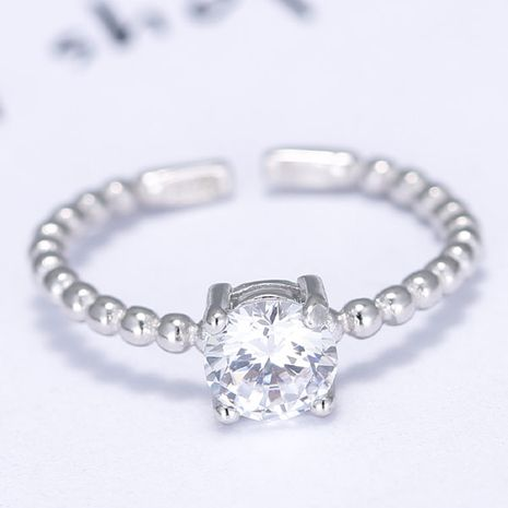 fashion simple sparkling zircon open ring wholesale nihaojewelry NHSC235425's discount tags