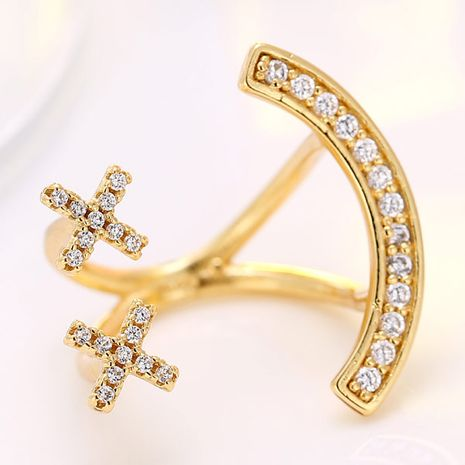 exquisite fashion OL inlaid zircon exaggerated open ring wholesale nihaojewelry NHSC235424's discount tags