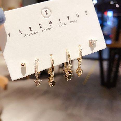 High-end sense street shooting fashion earrings combination design star tassel ear buckle earrings wholesale nihaojewelry NHCG235385's discount tags