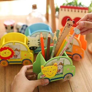 Creative Wooden Cartoon Car Modeling with Photo Frame and Clip Fashion Pen Holder wholesale nihaojewelry NHJA235507's discount tags