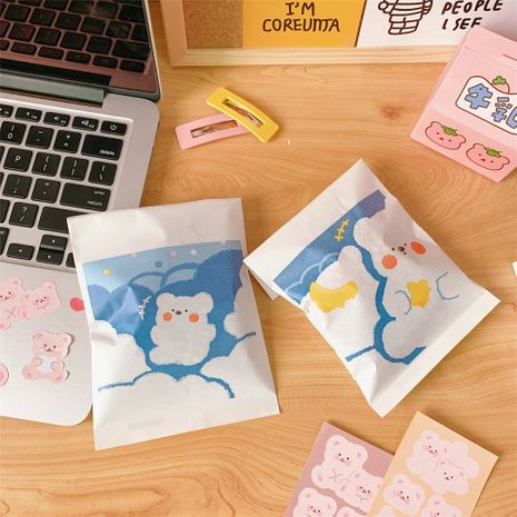 Korean cute bear wrapping paper bag snacks cookies candy ziplock bag wholesale nihaojewelry NHZE235543's discount tags