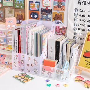 creative desktop bookshelf bezel book leaning file debris storage box wholesale nihaojewelry NHZE235547's discount tags