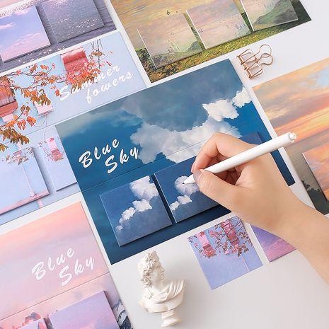 Paisaje coreano post-it creativo N veces publicado cuenta de la mano diy material de decoración mensaje memo nota papel al por mayor nihaojewelry NHZE235548's discount tags