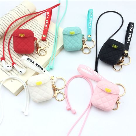 Cute Lingge Small Bag AirPods Bluetooth Wireless Headphone Anti-fall Lanyard case wholesale nihaojewelry NHFI235564's discount tags