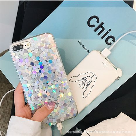 creative Bling laser sequin soft case for iPhone 11 Promax /7plus wholesale nihaojewelry NHFI235571's discount tags
