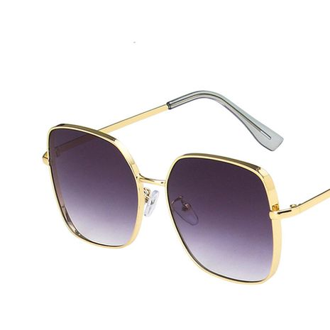 Metal thick-edged sunglasses round new retro trendy sunglasses wholesale nihaojewelry NHKD235519's discount tags