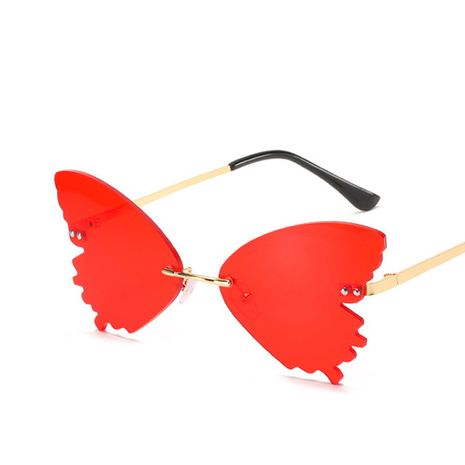 Butterfly shape sunglasses new colorful ocean film frameless sunglasses wholesale nihaojewelry NHKD235517's discount tags
