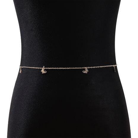 mode nouvelle petite fée française personnalité sauvage mode à la mode petite chaîne de taille de papillon nihaojewelry en gros NHPS235580's discount tags