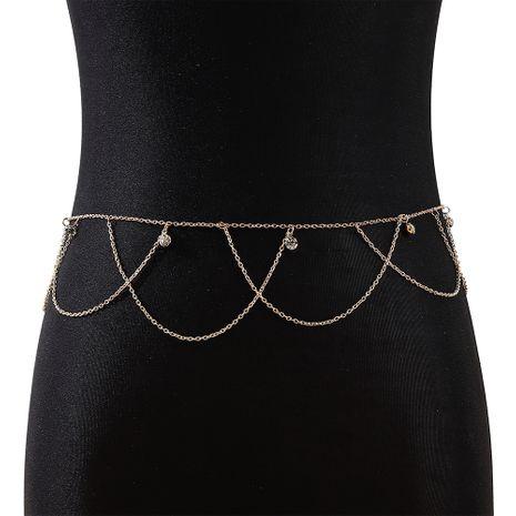 Nouvelle mode coréenne tendance de la personnalité sauvage chaîne de taille en strass nihaojewelry en gros NHPS235592's discount tags