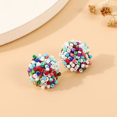 fashion creative exaggerated personality wild color beads earrings nihaojewelry wholesale   NHPS235602's discount tags