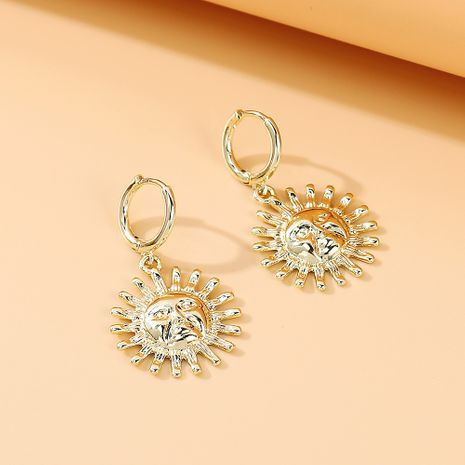 Korean new  personality creative wild simple sun god earrings nihaojewelry wholesale   NHPS235606's discount tags