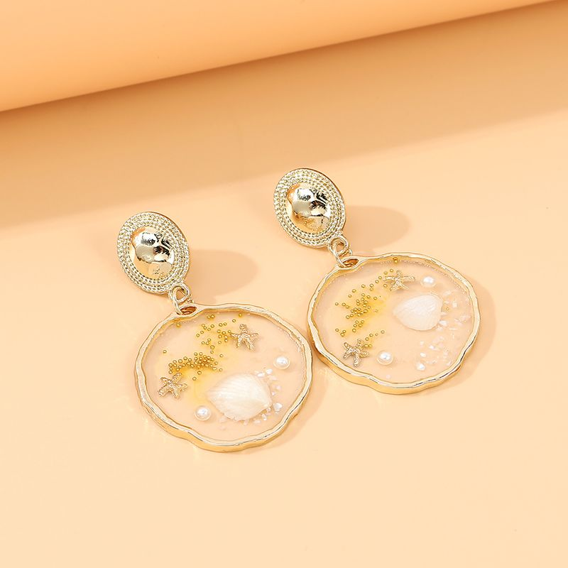 Korean new  creative fashion temperament big popular trendy  shell earrings nihaojewelry wholesale   NHPS235607