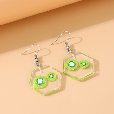 nouvelle personnalité de la mode tempérament petite fée simples petites boucles d'oreilles de fruits en résine fraîche nihaojewelry en gros NHPS235611's discount tags