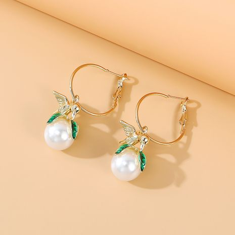 Korean retro fashion wild personality temperament  creative pearl earrings nihaojewelry wholesale   NHPS235613's discount tags