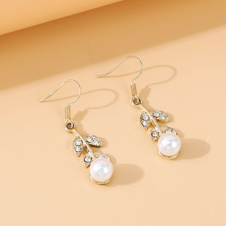 French retro new  wild personality  pearl rhinestone earrings nihaojewelry wholesale   NHPS235616's discount tags
