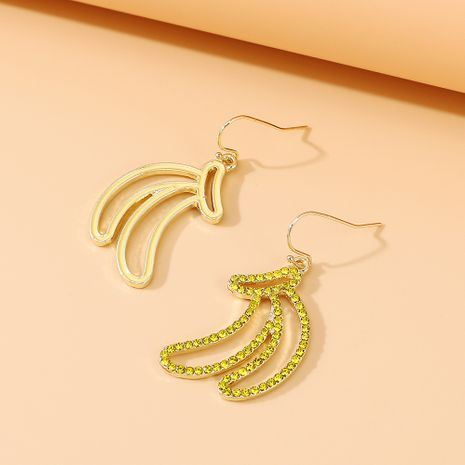 fashion creative exaggerated wild personality temperament banana rhinestone earrings nihaojewelry wholesale   NHPS235617's discount tags