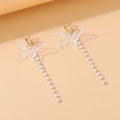 Mode coréenne créative nouvelle fleur rétro papillon boucles d'oreilles en perles nihaojewelry en gros NHPS235625's discount tags
