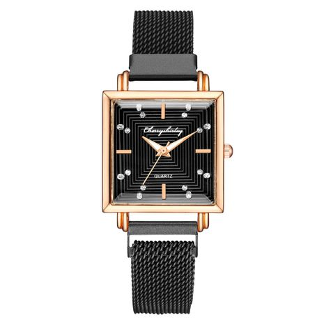 Fashion square dial magnet mesh belt ladies watch ladies water diamond magnet hand watch nihaojewelry wholesale  NHSS235669's discount tags