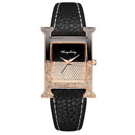 Casual Rectángulo Empalme Color Dial Reloj de mujer Cinturón de diamantes Reloj de mano de cuarzo para mujer al por mayor NHSS235692's discount tags
