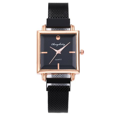 Reloj cuadrado de moda con hebilla magnética y reloj de mano simple de cuarzo cuadrado para mujer NHSS235698's discount tags