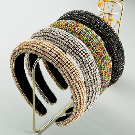 fashion  Inlaid Color Diamond Sponge Headband  Luxury  Hair Accessories  nihaojewelry wholesale   NHLN235735's discount tags