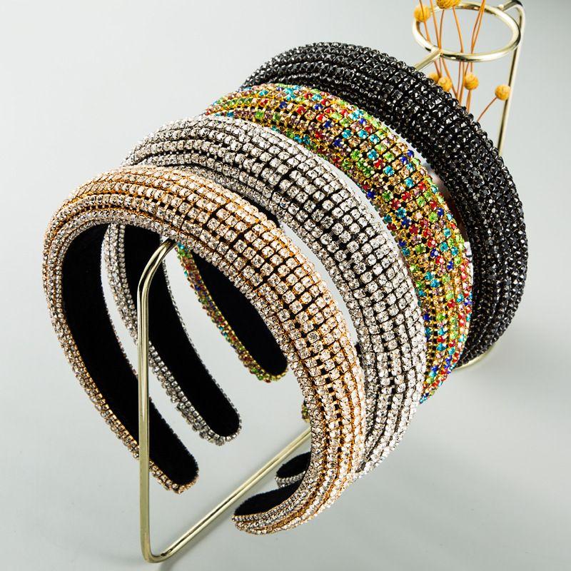 fashion  Inlaid Color Diamond Sponge Headband  Luxury  Hair Accessories  nihaojewelry wholesale   NHLN235735